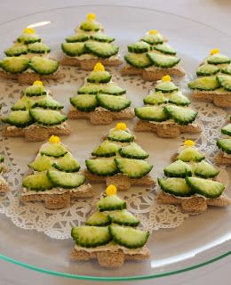 Christmas Tree Tea Sandwiches