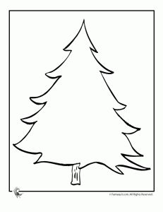 blank christmas tree colori 231x300 christmas trees coloring pages