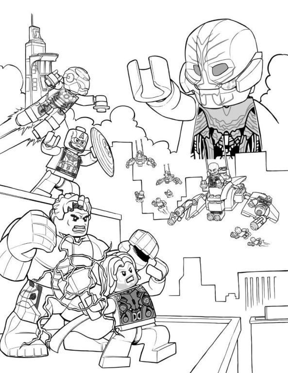 Lego Avenger Heroes Coloring Pages Lego Colorir Herois