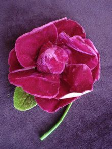 Gorgeous MAGENTA Color VELVET ROSE for Dress or от VerasLinens