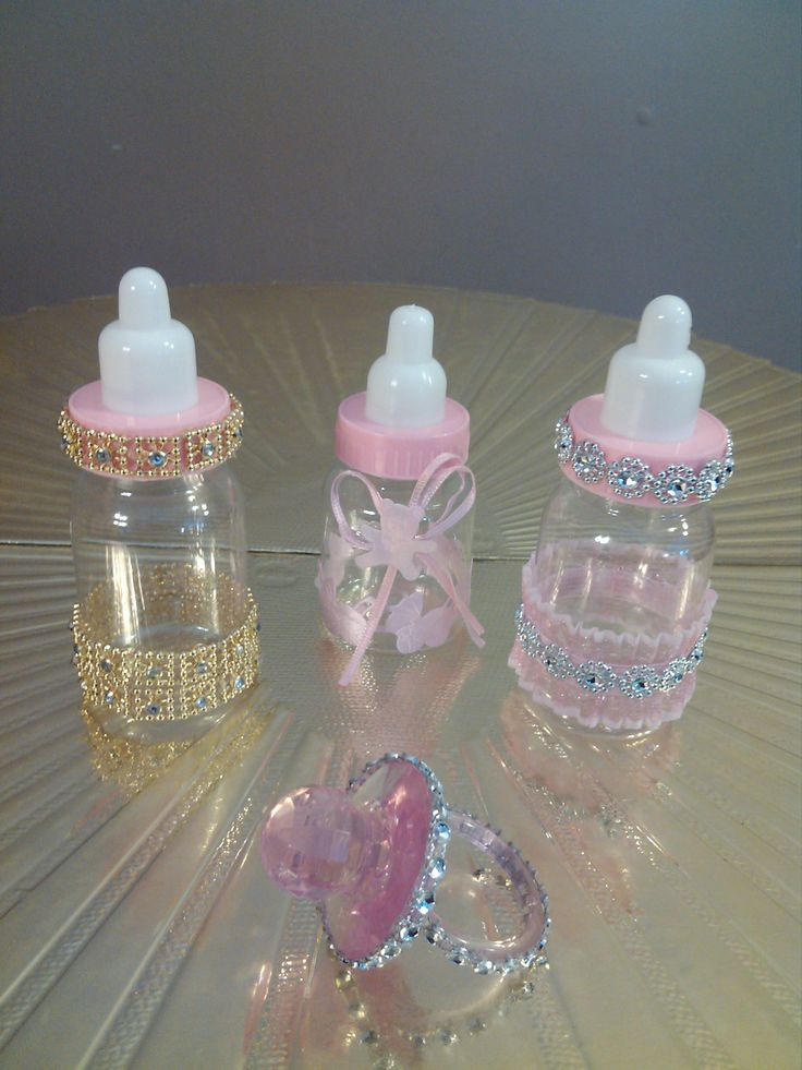 creative creations by adrienne  pink bling bottles