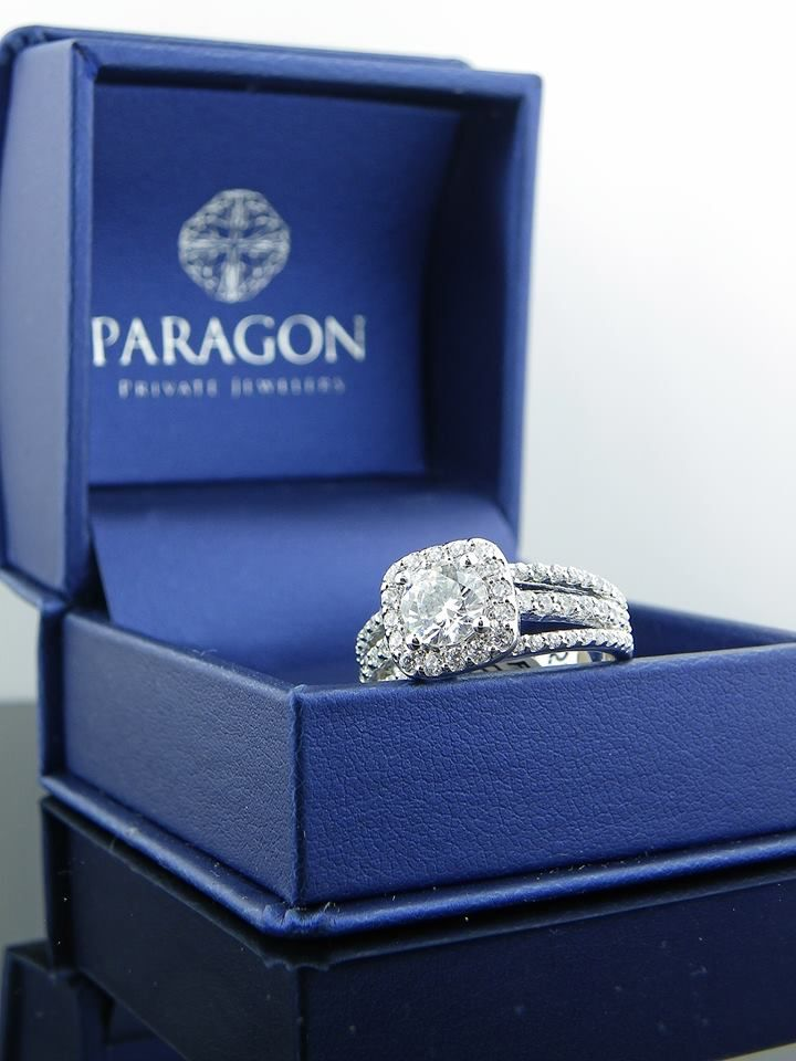 Our new packaging look so beautiful especially paired with a custom design diamond ring.
