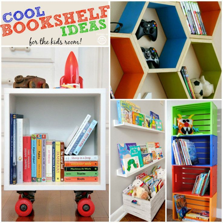 LOVE the bottom right bookshelf for outer space nursery! Various colors for a reading nook would be SO cute!