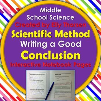 Scientific Method Conclusion: Interactive Notebook Pages