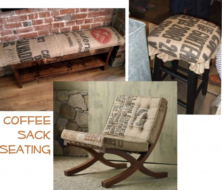 17 best images about burlap on pinterest diy headboards Burlap bag decorating ideas