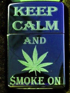 Vector KGM Thunderbird Custom Lighter - Keep Calm and Smoke on Marijuana Weed POT Leaf Ganja Logo Sparkle Blue ICE High Polish Chrome Rare! by Vector. $39.95