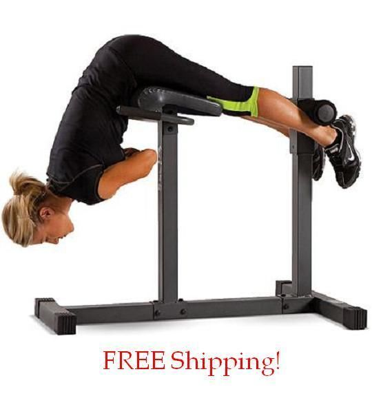 New Roman Chair Hyperextension Exercise Fitness Bench Gym Workout Core Home