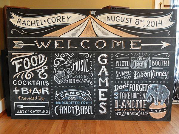 Large Event Chalkboards by Mel Larsen, via Behance mlrsn.com