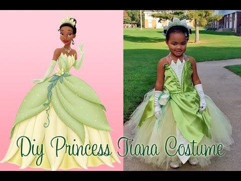 DIY Princess Tiana Costume Part 6 - YouTube