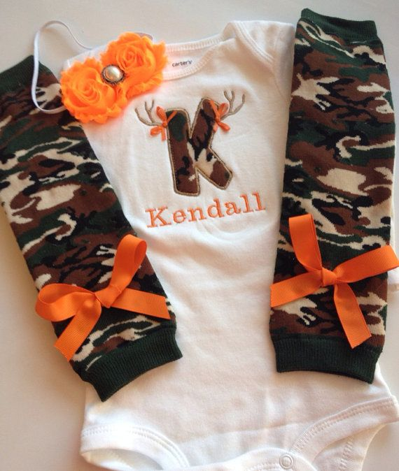 Hey, I found this really awesome Etsy listing at https://www.etsy.com/listing/170517190/baby-girl-camo-hunting-outfit-orange