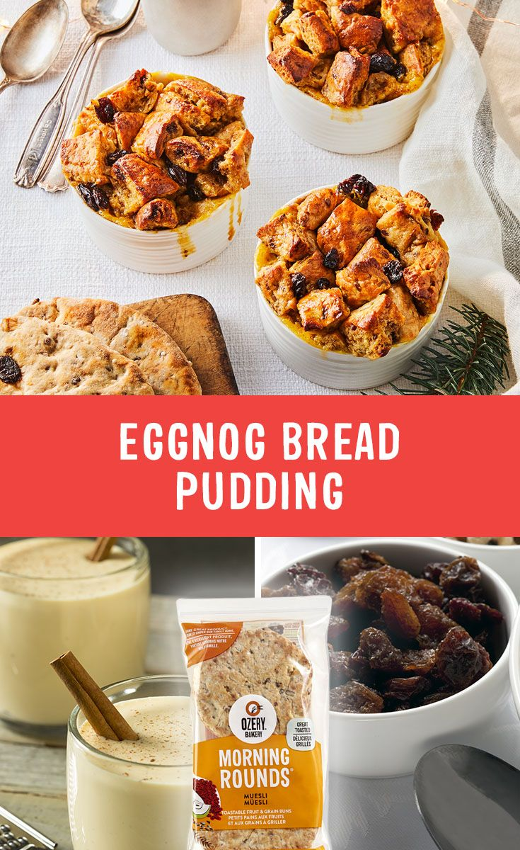 We're so egg-cited, and just can't hide it! ❄️ Get into the holiday spirit with Eggnog Bread Pudding.