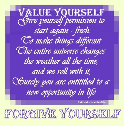 #value yourself  ♥ #forgive yourself  ♥ #WUVIP