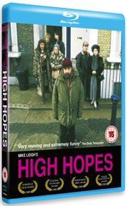 HIGH Hopes Mike Leighs class struggle comedy of manners concentrates on the intertwined lives of left-wing bike messenger Cyril Bender (Philip Davis) his girlfriend Shirley (Ruth Sheen) Cyrils mother (Edna Dore) http://www.MightGet.com/january-2017-12/high-hopes.asp