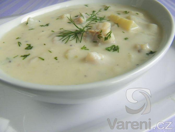 Krémová polévka s treskou a bylinkami -