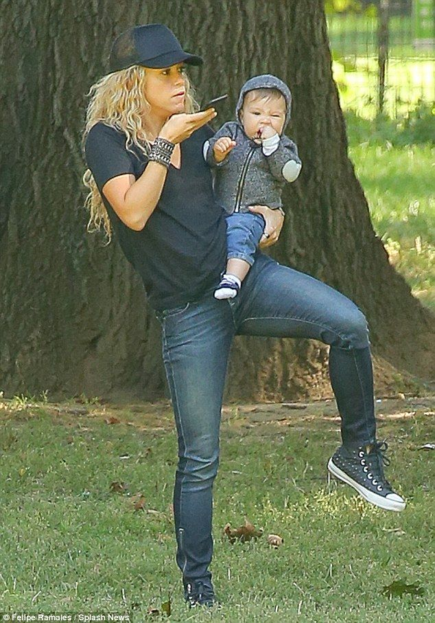 Whenever, wherever: Pop star Shakira and her son Sasha spotted at Central Park in New York...