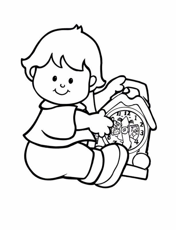 Little People Coloring Pages 13