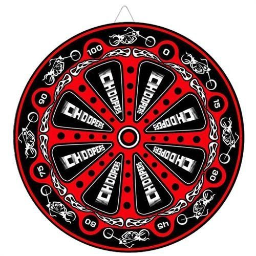 Biker Choppers Red Throwing Knife Target Dart Board by Armory Replicas. $8.99. Nail your target dead in the center after practicing on this 14.5 inch diameter medium density synthetic Skull Target Board. Perfect your speed, range, and accuracy by trying to hit the target right in the middle. This Dart Board offers an intricate design of Motorbike Artworks followed by a Red and Black background with the word Choppers and biker flames accent. The synthetic foam cor...