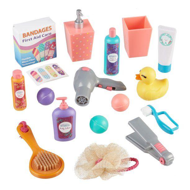 My Life As Bathroom Accessories Play Set For 18 Inch Dolls 18 Pieces Walmart Com Bathroom Accessories Playset 18 Inch Doll