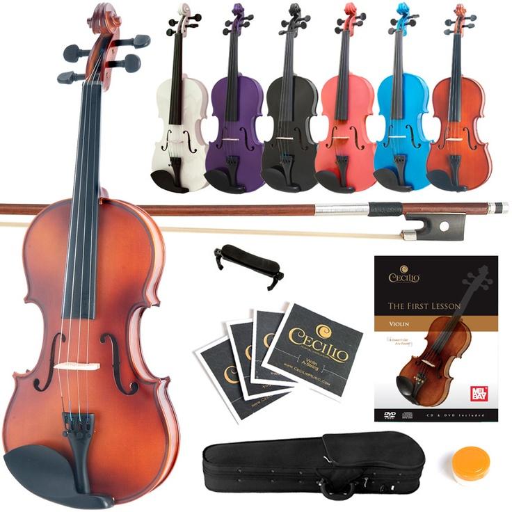 Mendini Violin Size 4 4 3 4 1 2 1 4 1 8 1 10 1 16 1 32 7Color Finish Book DVD | eBay