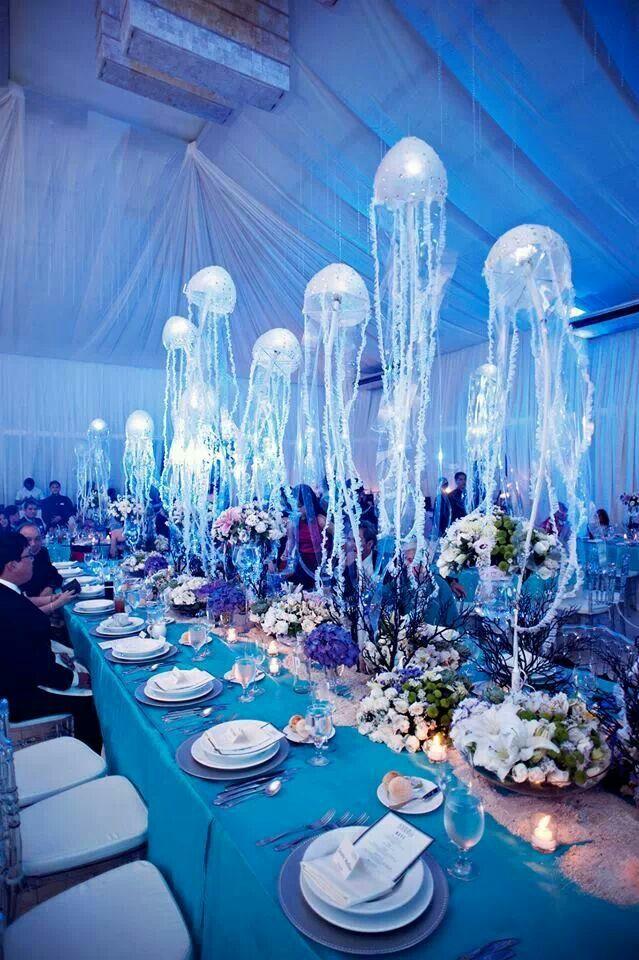 Under the Sea  Sweet 15   Sea wedding theme Wedding motifs Aquarium wedding