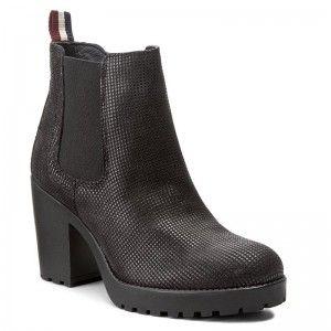 2b05f41dd6912 Členková obuv TOMMY HILFIGER - DENIM Boo 1Z FW0FW01746 Black 990 ...