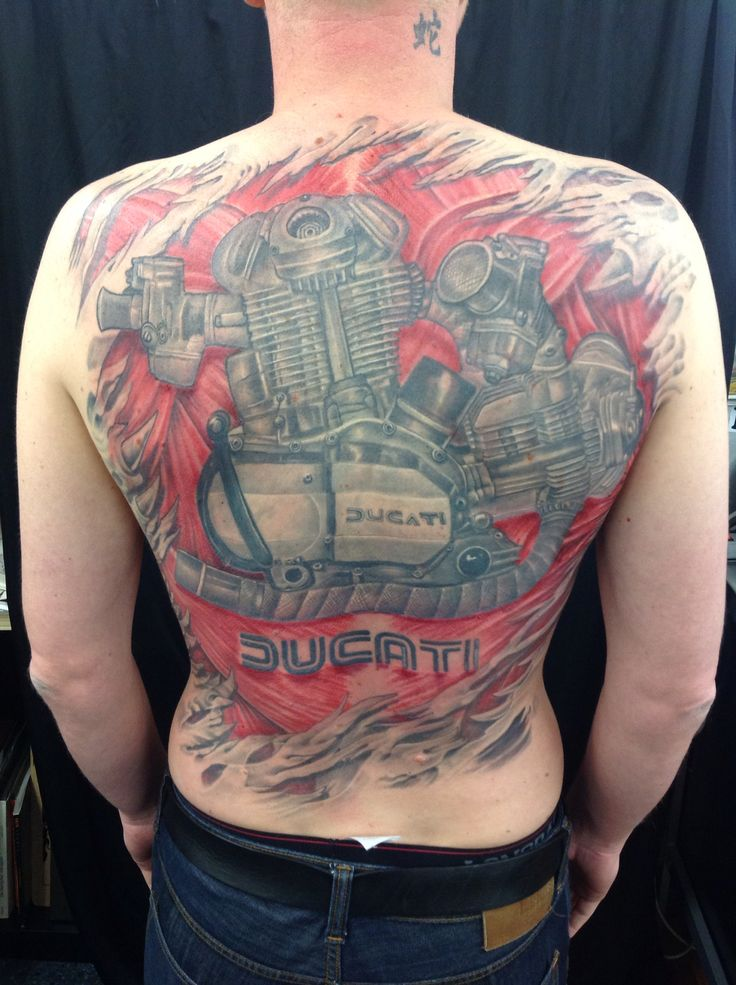 Ducatti ,motor ,motobike , tattoos