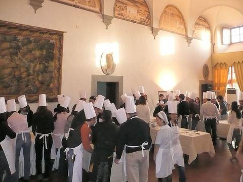 Villa Medicea La Ferdinanda Cooking teal building