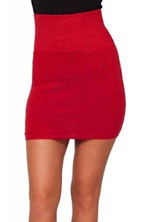 Hot from Hollywood Women's Glittery Micro Mini Bodycon High Waist Pencil Skirt