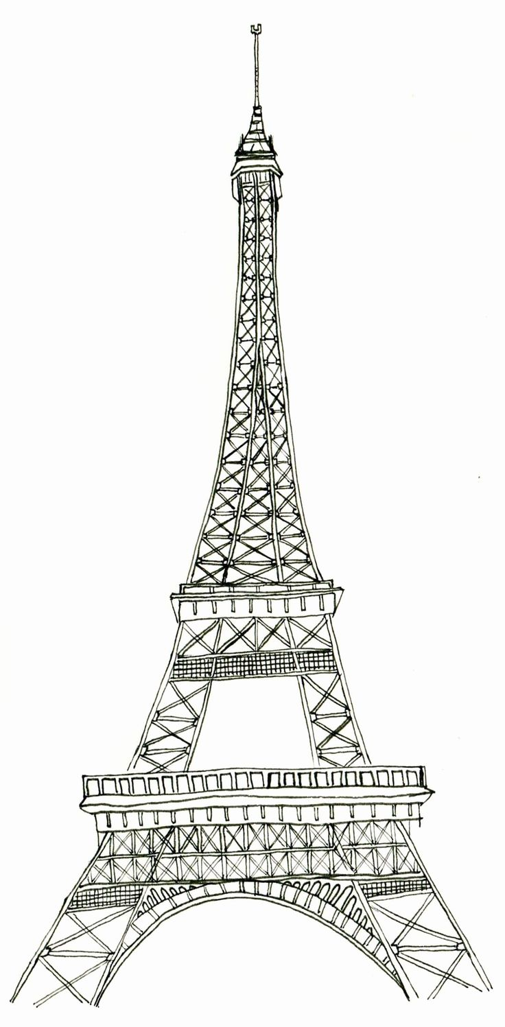 Eiffel tower Coloring Sheets Inspirational Free Printable ...