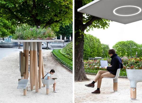 Escale Numérique, by JCDecaux and Mathieu Lehanneur, Paris, France.