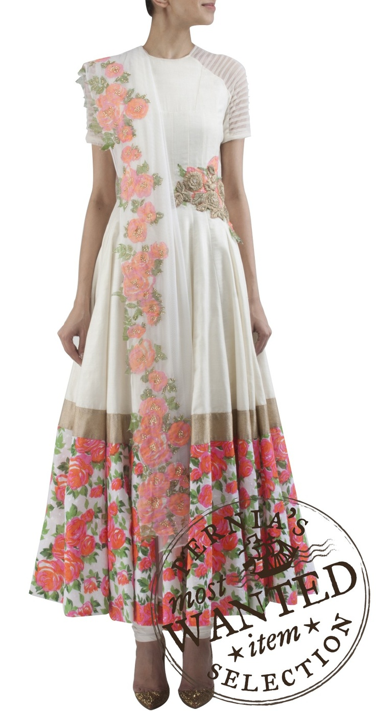 Floral Anarkali by Ridhi Mehra also worn by Sonam Kapoor