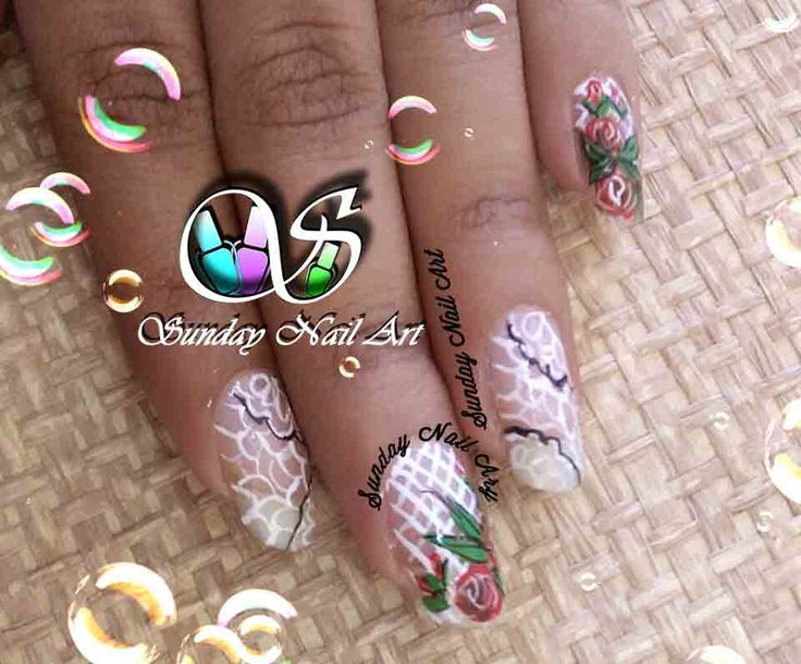 317 best sunday nail art images on pinterest fairynail messy roses for wedding by sunday nail art video on youtube prinsesfo Gallery