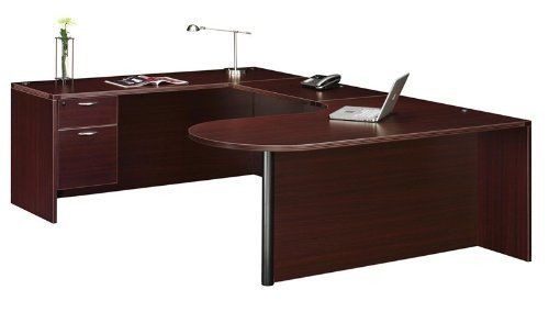 Fairplex Left Executive Corner Peninsula/Bullet ''U'' Desk with 3/4 Peds by DMI Office Furniture. $851.99. Left Executive Corner Peninsula/Bullet U'' Desk with 3/4 Peds Box/ file pedestal Pedestals ship set-up Locking pedestal All drawers suspended on fully extending, metal ball bearing slides File drawers accommodate letter or legal sized hanging files Bullet Desk Shell: 71'' W x 42'' D x 29'' H Bridge: 35'' W x 23.6'' D x 29'' H Credenza Shell: 71'' W x 23.6'' D x 29'' ...