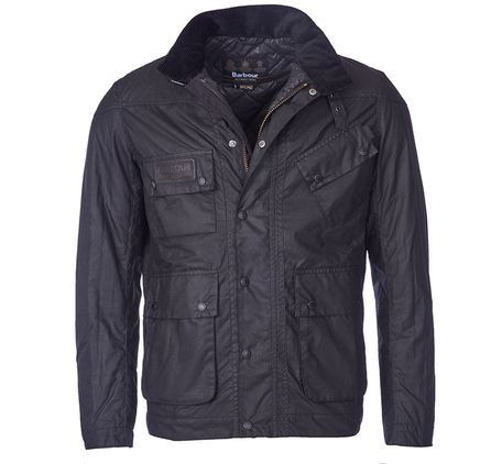 Barbour manovella giacca slim fit cera sottile nero dell'offerta limitata, outlet 2970T€230.22 :