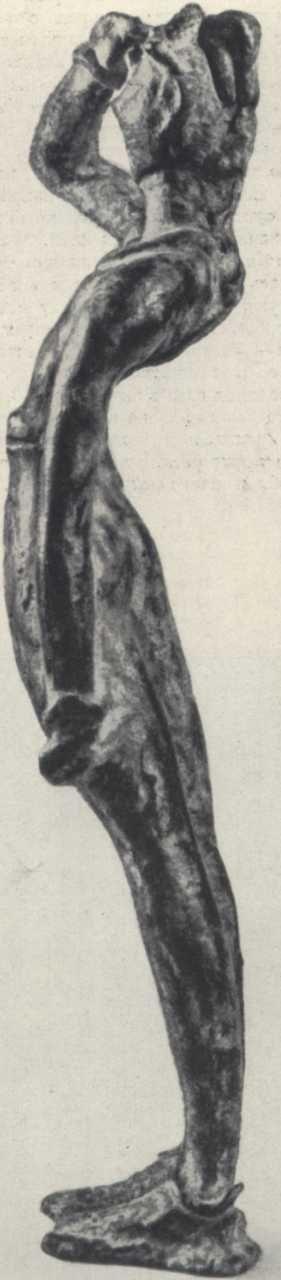Совершенно другую концепцию тела и позы показывает бронзовая статуэтка «Молящегося», найденная в Тилисса. Левая рука мужчины опущена и тесно прижата к телу, правая поднята ко лбу.