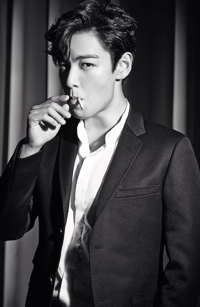T.O.P ....aw don't smoke, sweetie, no matter how sexy you look...COPD is a drag.