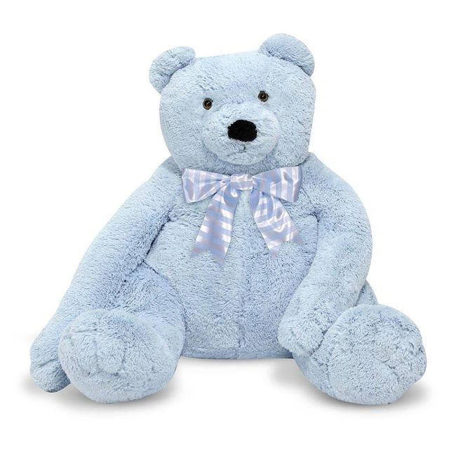"Melissa & Doug Jumbo Blue Teddy Bear Stuffed Animal (over 2 feet tall) - Toys""R""Us"