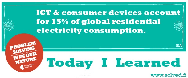 TIL: ICT & consumer devices account for 15% of global residential electricity consumption.