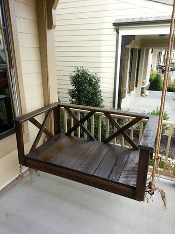 Custom Wood | Dark Rustic Porch Swing Bed | Furniture by Brad | Greater Nashville Area, TN | www.furniturebybrad.com | Hand Crafted Furniture in Middle Tennessee