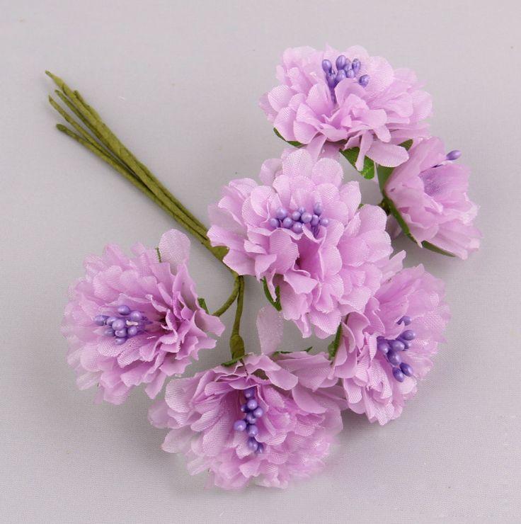 Free Shipping 72pcs 4cm Artificial Silk Fabric Chrysanthemum Wedding Gerbera Flowers For Scrapbooking Garland Hair Accessories