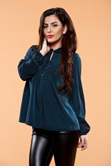 Bluza PrettyGirl Iconic Design DarkGreen - http://hainesic.ro/bluze/bluza-prettygirl-iconic-design-darkgreen-79e845301-starshinersro/