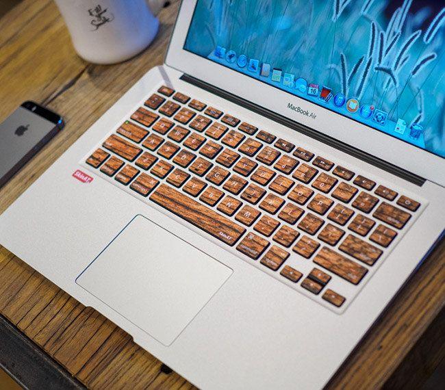 Sticker pour clavier : bois n°1