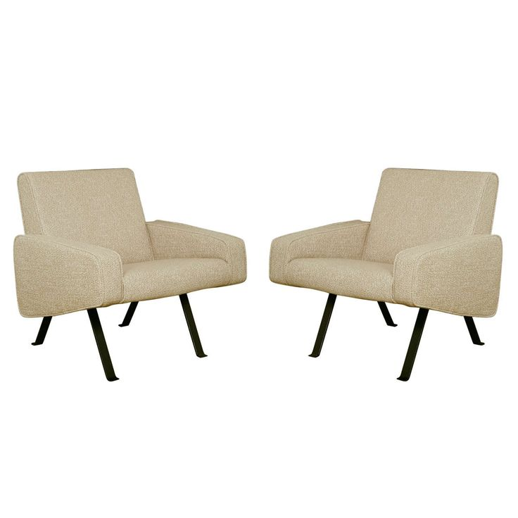 Pair of armchairs 740 by Joseph-André Motte - Steiner edition - 1957 | From a unique collection of antique and modern armchairs at https://www.1stdibs.com/furniture/seating/armchairs/