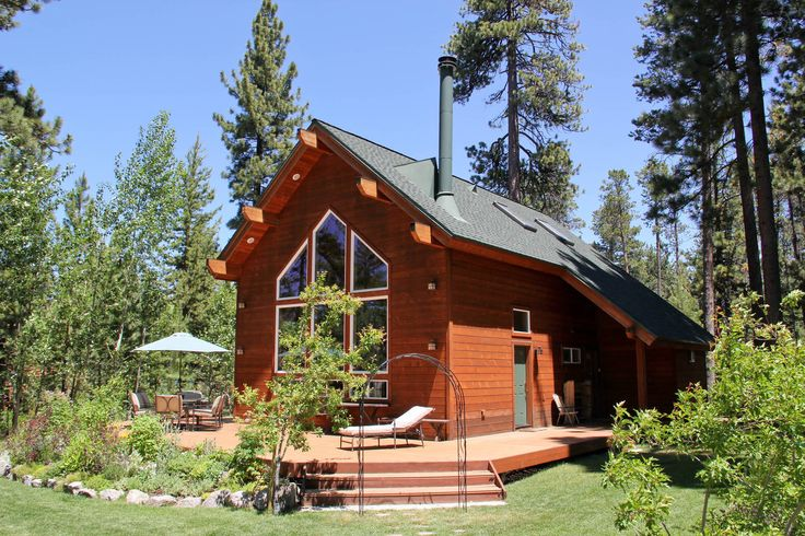 Gorgeous tahoe cabin private beach vacation rental in for Vacation cabin kits