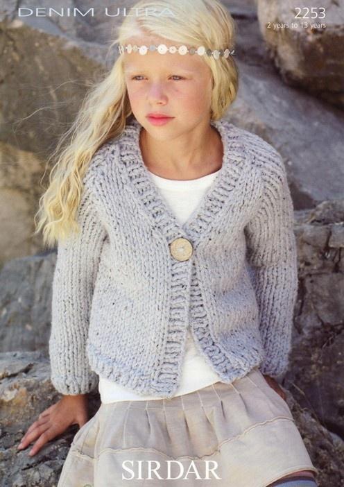 Sirdar--Cardigan (ages 2 - 13)