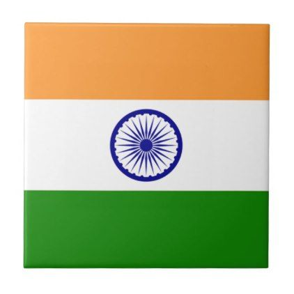 """Good color Indian flag """"Tiranga"""" Ceramic Tile - good gifts special unique customize style"""