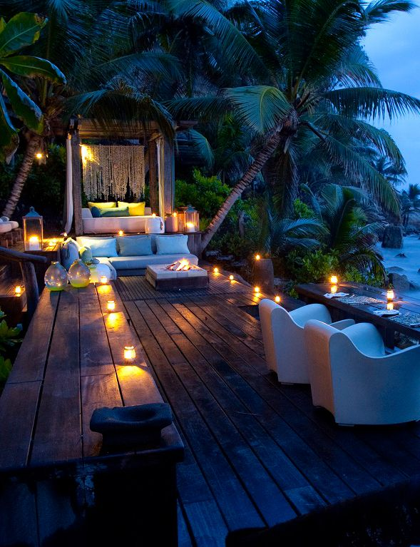 Beachside dining. Wish I could be wherever all this is with someone special I…