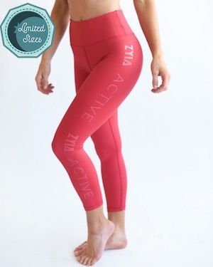 291d86a6ab4853 Rose ZYIA Light n Tight Mid-Rise Capris 2 - $44.25 | Clothes/Accessories ON  SALE! | Capri, Tights, Capri leggings