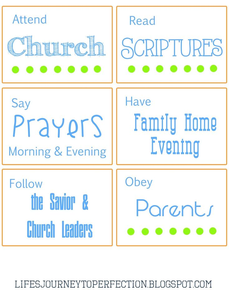 Life's Journey To Perfection: Family Home Evening on Keeping Baptismal Covenants