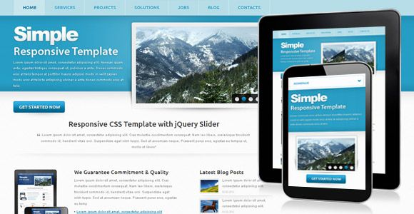 48 best free business html templates images on pinterest design simple free template simple website templatesbusiness friedricerecipe Image collections